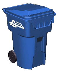 Blue Recycling Cart